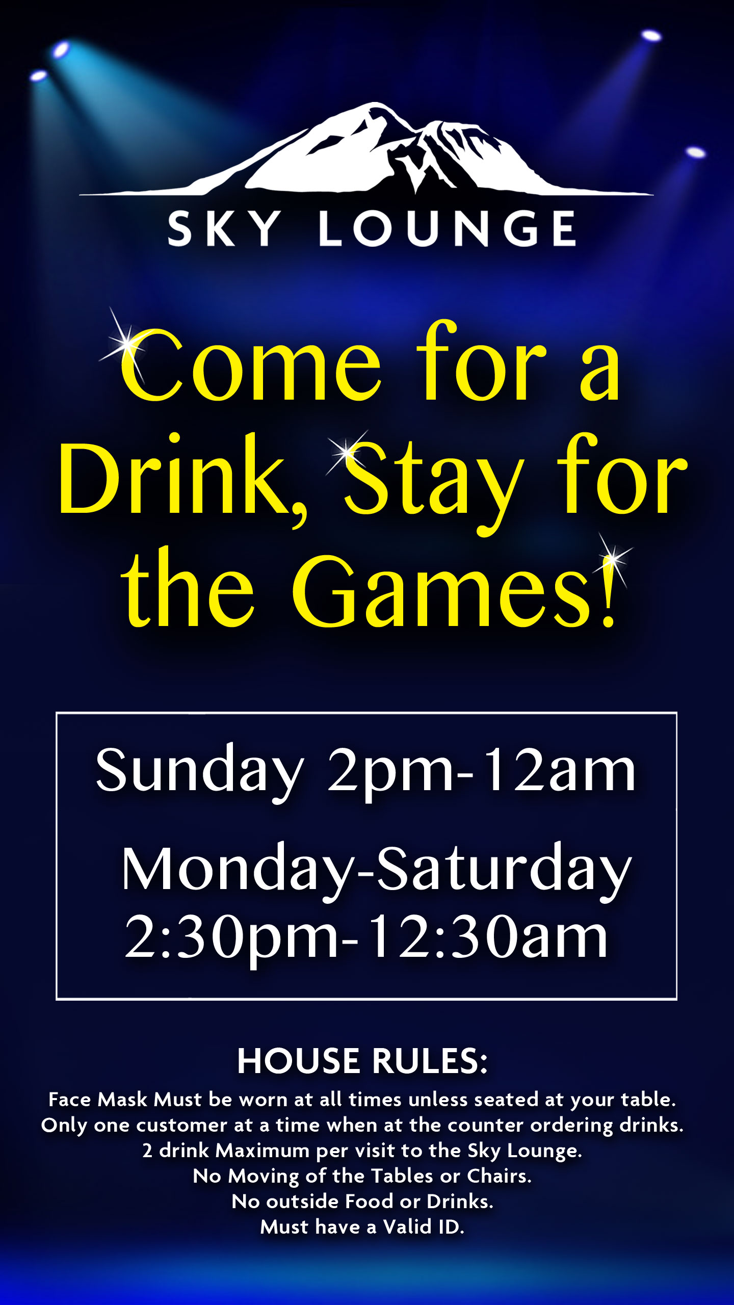 Come for a Drink, Stay for the Games!